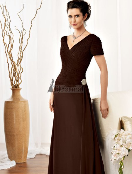 Brown Mother Of The Bride Dresses - Wedding Short Dresses