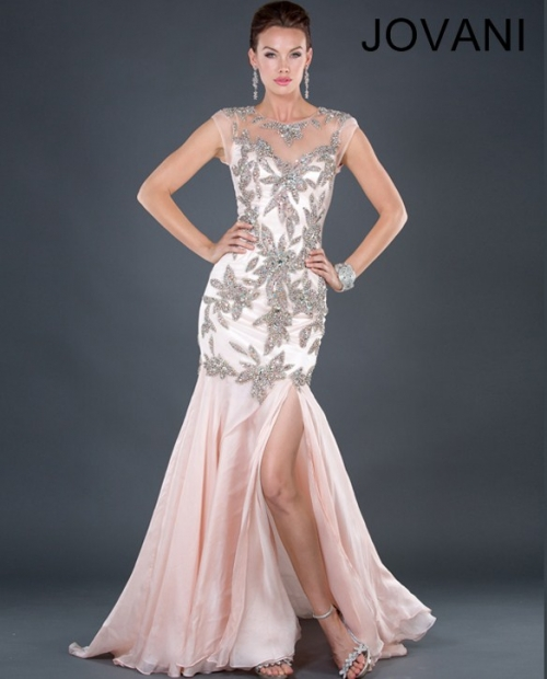 light pink dress mother of the bride 2013 jovani-72789
