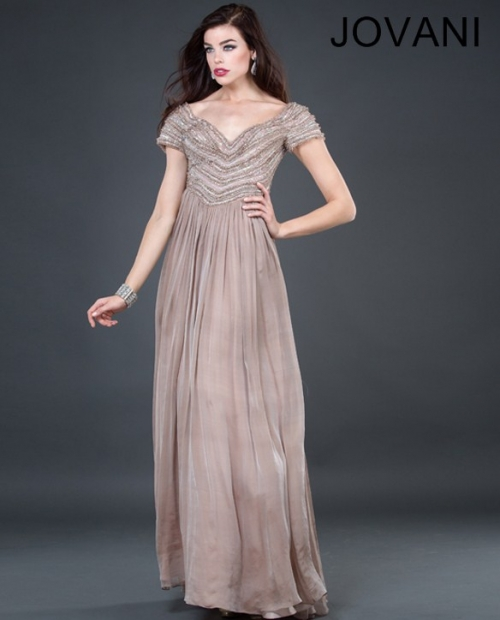 long taupe dress mother of the bride 2013