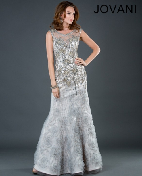 silver dress mother of the bride 2013 jovani