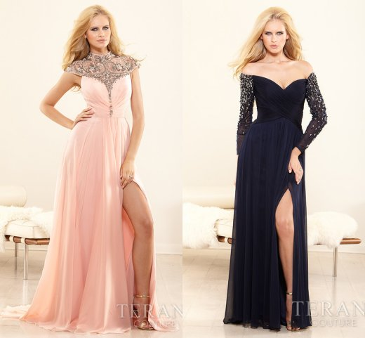 sexy pink and black mother of bride dresses