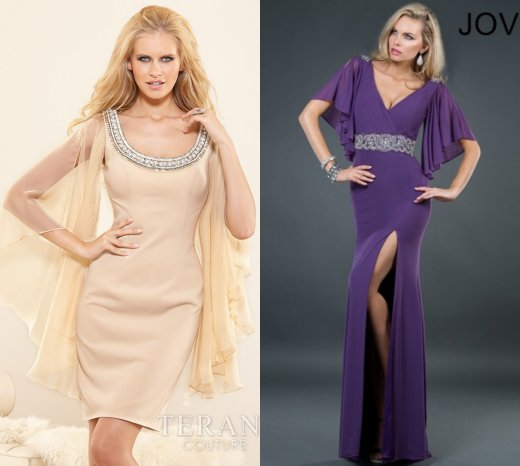 sexy purple and nude mother of bride dresses