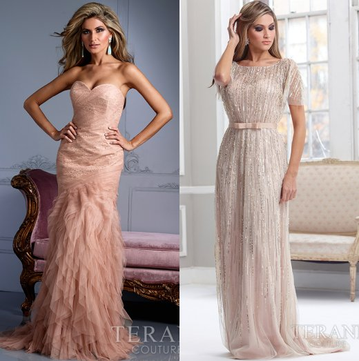 sexy sequin and peach dresses mother of bride