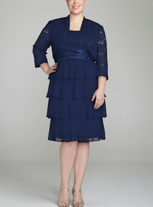 blue 2 piece mother of bride dress 2014