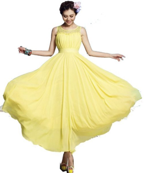 cute yellow summer dress for mother of bride 2014
