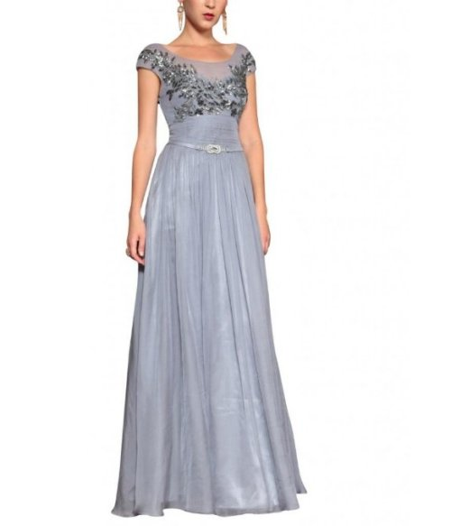 long grey mother of the bride dress 2014