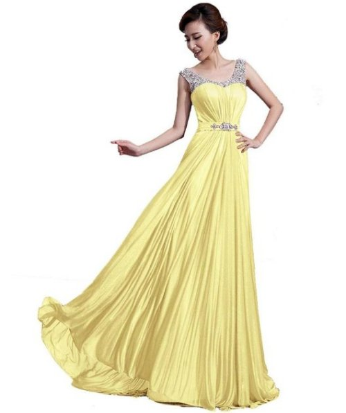 yellow summer mother of bride dress 2014