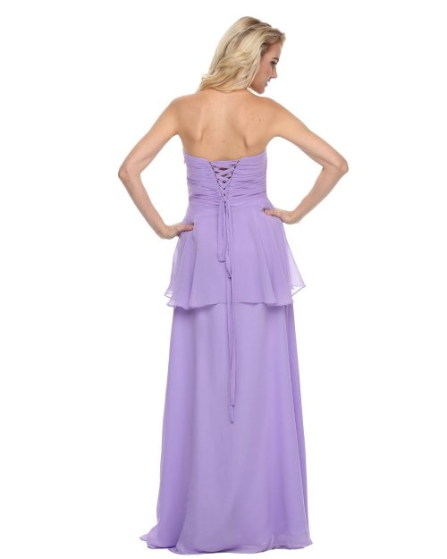strapless lilac peplum mother of bride groom dress 2014 by Juliet Dresses-