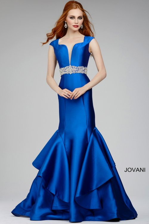 elegant blue mother of bride dress 2015 Jovani 28124