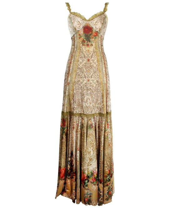 sexy boho brown lace floral summer mother of bride dress