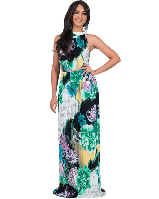 sexy halter floral summer mother of bride dress Koh Koh