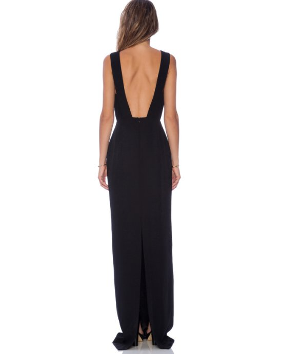 sexy long black evening mother of bride dress revolveclothing-b