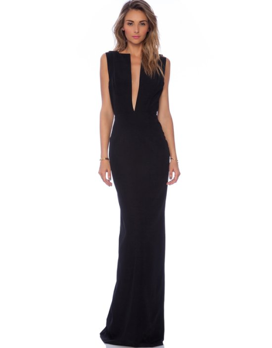 sexy long black evening mother of bride dress revolveclothing