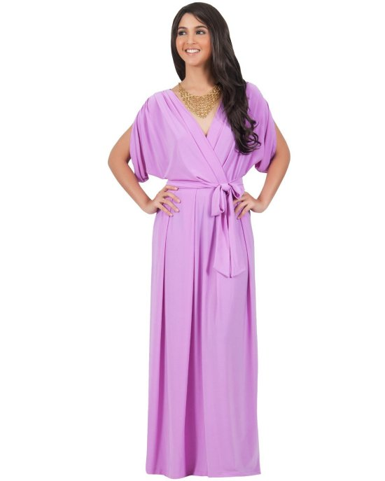 sexy long purple summer motehr of the bride dress Koh Koh