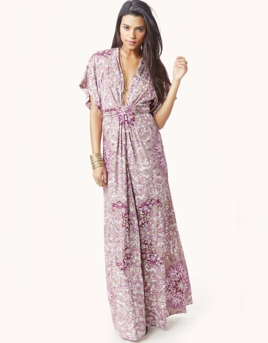 sexy pink bohemian v-neck summer motehr of bride dress shopplanetblue