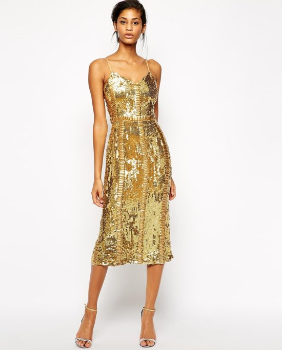 sexy short sequin gold mother of the bride dress