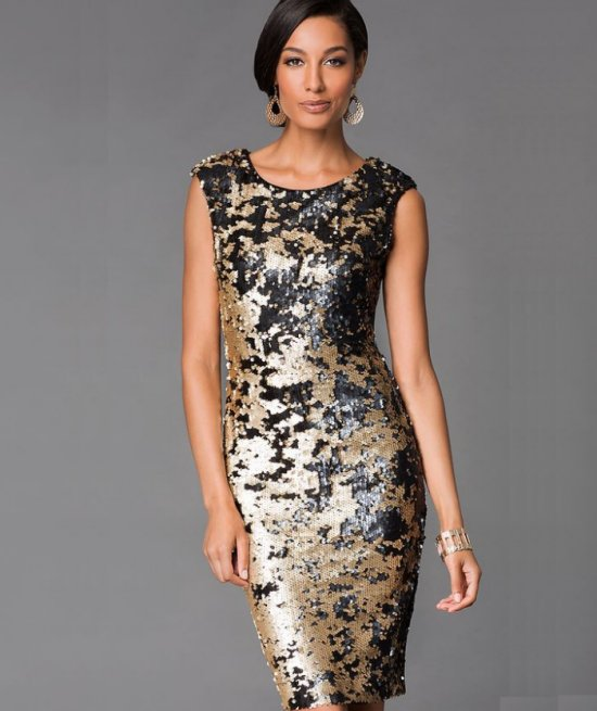 sexy short sequin mother of the bride dress