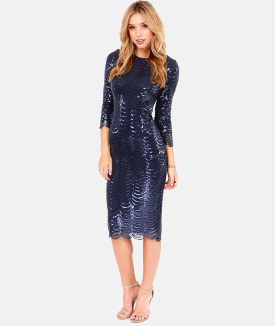 sexy short sequin navy sleeves mother of bride dress lulus