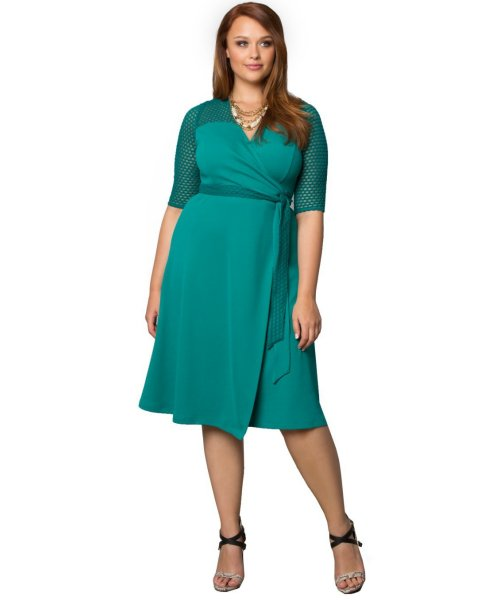 Teal Plus Size Mother of the Bride Dresses