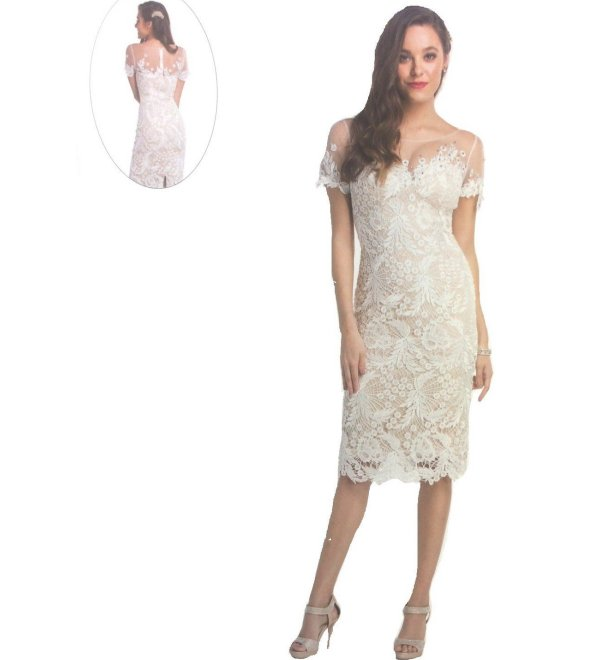 sexy ivory tea length lace mother of the bride dress Love My Seamless
