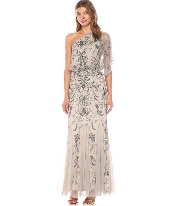 Adrianna Papell beaded mother of the bride gown