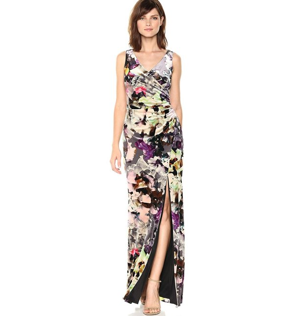 floral velvet mother of the bride dress Adrianna Papell