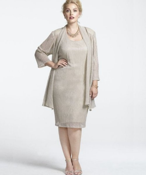 13 Gorgeous Two Piece Plus Size Mother of the Bride Dresses